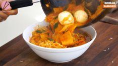 Rabokki Korean Sweet & Spicy Ramen Recipe & Video - Seonkyoung Longest Spicy Ramen Recipe, Ramen Recipes, Curry Recipes, Riblets Recipe, Bulgogi Recipe, Easy Asian Recipes, Korean Recipes, Ethnic Recipes, Tteokbokki Recipe Easy