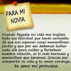 carta para mi novia Amor Quotes, Love Quotes, Inspirational Quotes, Frases Love, Believe, Love Phrases, Gifts For My Boyfriend, Love Messages, Positive Messages