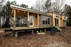 A COZY RV TINY HOUSE IN COBLESKILL, NY. The home is made by Lil Lodges of Bear Creek, Alabama.