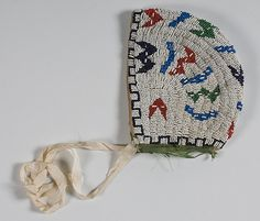 Sioux+Beaded+Hide+Child's+Bonnet+(4/21/2011+-+ONLINE++American+Indian+&+Western+Art+Timed+Auction)