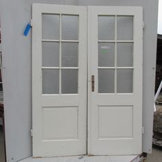Pair of Obscured Half Glass Doors | Ohmega Salvage