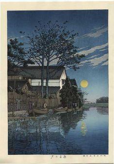 Kawase Hasui détail - Itako le soir 1930 (HK02)