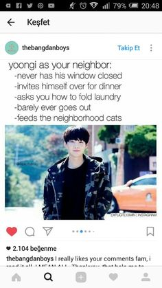 Yoongi is a great cook tho, so likely he's inviting himself over to teach me how to cook for both of us cause I can't cook for sht c: