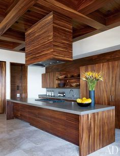 CHIC COASTAL LIVING: Cindy Crawford and George Clooney's Cabo San Lucas Beach Houses modern kitchen