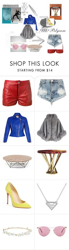 prediction by izina on Polyvore featuring OneTeaspoon, Harrods, Hervé Léger, Oliver Peoples, Christian Louboutin, Magda Butrym, Design Lab, Malabar, Rika and men's fashion