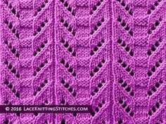 Lace knitting stitch of the Month - August Totem Pole lace panel is great for scarves, baby sweaters. Lace Knitting Stitches, Lace Knitting Patterns, Stitch Patterns, Crochet Kitchen, Cross Stitch Art, Knitting Videos, Baby Sweaters, Free Pattern, Knit Crochet