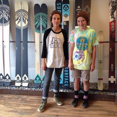 We let all kinds of vagabonds into the showroom. The youth shred of tomorrow made a stop by today. Winter stoke is in the air here in Utah. #surfaceskis #winter2014 #groms #skigroms