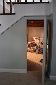 """Fairy nook"" under the stairs - a great hidden hideout for kids."