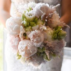 Prettiest Peony Bouquet Ever ~ Pink peonies, blushing bride protea and astilbe make a beautiful bridal bouquet; My Glendale Florist; Blush Peonies, Peonies Bouquet, Peony Bouquet Wedding, Wedding Flowers, Bridal Bouquets, Wedding Bells, Peonies For Sale, Pink Grey Wedding
