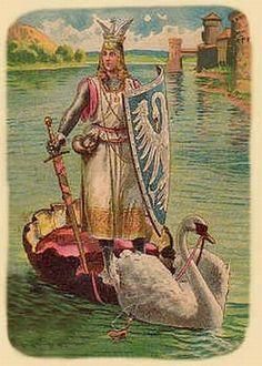 Lohengrin postcard around 1900 by unknown artist   https://upload.wikimedia.org/wikipedia/commons/4/48/Lohengrin-kitsch.jpg
