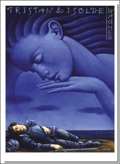 Tristan und Isolde - Richard Wagner - poster by Rafal Olbinski