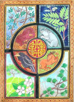 Celtic Wheel of the Year by *dragonladych on deviantART