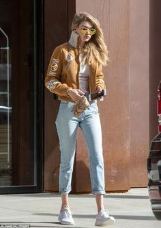 Gigi Hadid rocks jacket in NYC after siding with Taylor Swift in Kanye West drama | Daily Mail Online