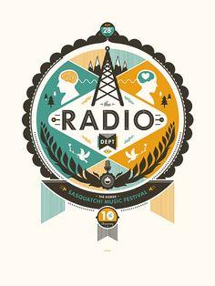 The Radio Dept. | Designer: Delicious Design League