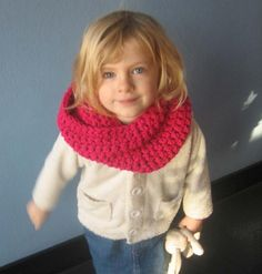 Girls Crochet Snood (Cowl, Tube Scarf)