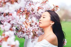 spring sakura cherry blossom fashion portrait asian beauty photo shoot london regents park _05