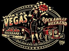 Viva Las Vegas Rockabilly Weekend poster by Vince Ray