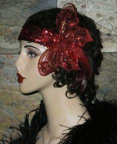 One of a Kind Vintage INpsired Roaring 20s Butterfly Headband by Graceful Butterfly winner of the 2012 Hatty Award