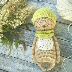 Crochet pattern for bear. - pdf-file / 12 pages - only instruction, without photo - english/russian language - size 17 cm (if using sport weight yarn and 1,6 mm crochet hook)