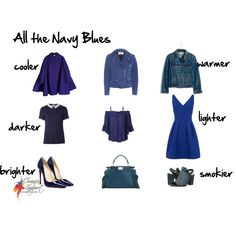 navy blue by imogenl on Polyvore featuring Dorothy Perkins, LE3NO, Madewell, Acne Studios, Seychelles and Fendi
