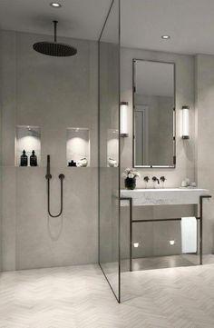 Modern Farmhouse, Rustic Modern, Classic, light and airy master bathroom design some ideas. Bathroom makeover ideas and bathroom renovation suggestions. Design Wc, Home Design, Design Ideas, Design Trends, Bath Design, Design Firms, Bad Inspiration, Bathroom Inspiration, Bathroom Ideas
