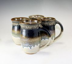 Stoneware Pottery Coffee Mug Earthy and Rustic by MostlyStoneware Larger Sized