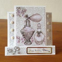 Vintage ephemera by Craftwork cards used to make this handmade stepper card. Vintage Ephemera, Vintage Cards, Stepper Cards, Birthday Cards, Happy Birthday, Craftwork Cards, Easel Cards, Craft Work, Cute Cards