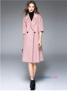 Tìm kiếm những mẫu áo khoác dạ dáng dài đẹp trong mùa đông này