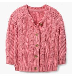 d926761e493 Baby Girl Bright Rose Cable Knit Cardigan by Gymboree Cable Knit Cardigan