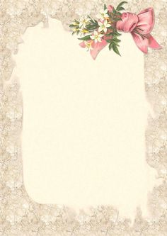 Beautiful bouquet lined writing paper Papel Vintage, Vintage Paper, Borders For Paper, Borders And Frames, Scrapbook Paper, Scrapbooking, Lined Writing Paper, Vintage Borders, Framed Wallpaper