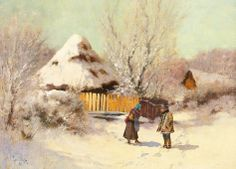 Laszlo Neogrady Hungary, Landscape Paintings, Winter, Europe, Heart, Alexandrite, Land Art, Landscapes, Garden Deco