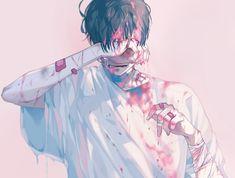 Pin by kan kanyarat on anime boy in 2019 Art Triste, Anime Triste, Aesthetic Boy, Aesthetic Anime, Anime In, Anime Guys Shirtless, Anime Guys With Glasses, Estilo Anime, Sad Art