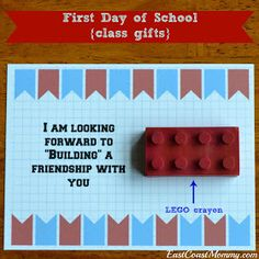 East Coast Mommy: First Day of School Class Treats/Gifts