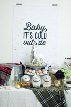 Baby It's Cold Outside Gender Reveal Party   Confetti Sunshine