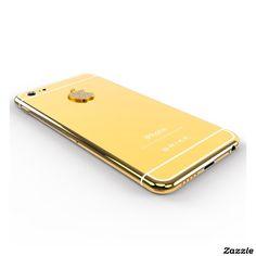 24k Gold iPhone 6 with Diamond Logo