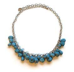Tuquoise necklace bohemian fashion jewelry by LadyofAlbionJewels