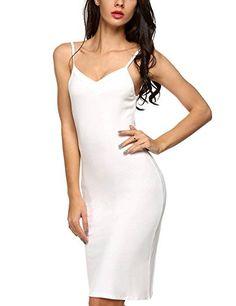820f4e2493 Yealsha Women's Racerback Nightgown Cotton Sleeveless Nightshirt Sleepwear  Plus Dresses, Sexy Dresses, Lingerie Slips