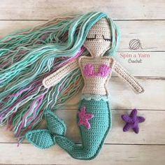 #crochet, free pattern, ragdoll, Mermaid, stuffed toy, #haken, gratis patroon (Engels), pop, lappenpop, zeemeermin, knuffel, speelgoed, #haakpatroon