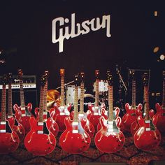 One is NEVER enough.    #Gibson #GibsonGuitar #ES335 #GibsonCustom #Guitar #LeeRitenour #AWESOME #red #beauty