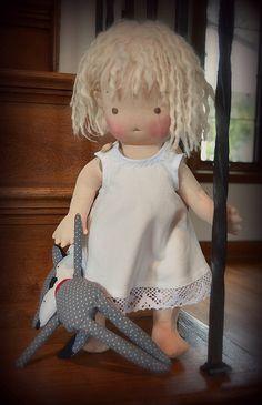 Scarlett- Handmade natural fiber doll by Mon Petit Frère