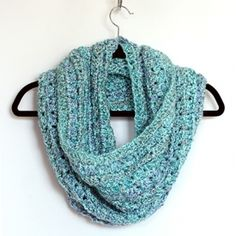 Whip up this beautiful and easy to crochet infinity scarf in a day or two. Great pattern for beginners too.