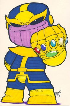 Chibi-Thanos 4. by hedbonstudios on DeviantArt