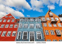 Old classic architecture of Nyhavn in Copenhagen, Denmark