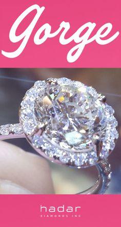 "I.  SAY.  YES! ""The Angel"" Diamond Halo Engagement Ring by HadarDiamonds.com"