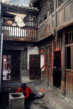 A traditional residence with a well in the central courtyard, Dali, Yunnan Province
