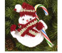 Candy Snowman Crochet Pattern - Paula Wendland, Talking Crochet, AllFreeCrochet