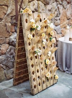 Lovely DIY display board for rose petal or confetti cones! Chic Wedding, Wedding Details, Rustic Wedding, Our Wedding, French Wedding Style, Nontraditional Wedding, Wedding Pins, French Style, Spring Wedding