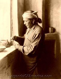 Zuni Bead Worker