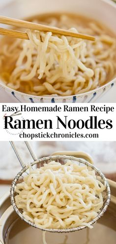 Easy homemade ramen noodles recipe without using a noodle-making machine. You can make delicious noodles at home with just 4 ingredients. #japaneseramen #noodlerecipes #recipes #noodlerecipeseasy #noodlerecipessoup  #noodles #recipeseasy #ramennoodlerecipes Ramen Noodle Recipes Homemade, Ramen Recipes, Japanese Street Food, Japanese Food, Japanese Noodle Dish, Curry Udon, How To Make Ramen, Ramen Restaurant, Best Side Dishes