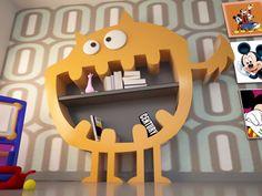 Open Adamantx® kids bookcase HARRY by Italy Dream Design Cute Furniture, Milan Furniture, Furniture Design, Kids Salon, Kids Bookcase, Tree Bookshelf, Book Shelves, Kindergarten Design, Ral Colours
